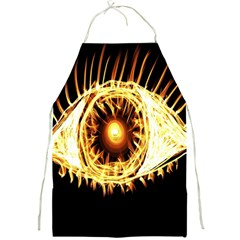 Flame Eye Burning Hot Eye Illustration Full Print Aprons