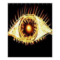 Flame Eye Burning Hot Eye Illustration Shower Curtain 60  x 72  (Medium)
