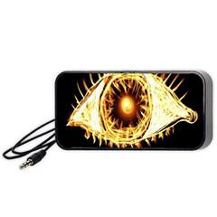 Flame Eye Burning Hot Eye Illustration Portable Speaker (Black)