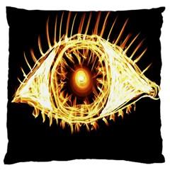 Flame Eye Burning Hot Eye Illustration Large Cushion Case (Two Sides)