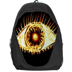 Flame Eye Burning Hot Eye Illustration Backpack Bag