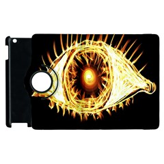 Flame Eye Burning Hot Eye Illustration Apple Ipad 3/4 Flip 360 Case