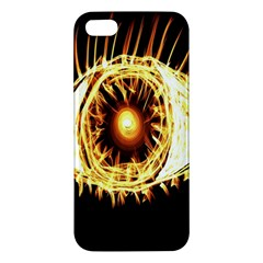 Flame Eye Burning Hot Eye Illustration Apple iPhone 5 Premium Hardshell Case