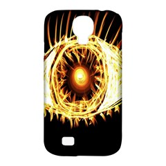 Flame Eye Burning Hot Eye Illustration Samsung Galaxy S4 Classic Hardshell Case (PC+Silicone)