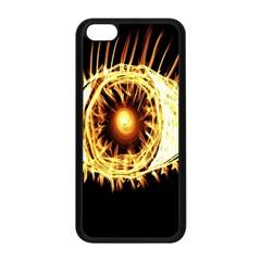 Flame Eye Burning Hot Eye Illustration Apple Iphone 5c Seamless Case (black)