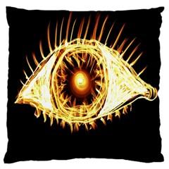 Flame Eye Burning Hot Eye Illustration Standard Flano Cushion Case (One Side)