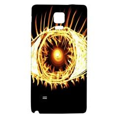 Flame Eye Burning Hot Eye Illustration Galaxy Note 4 Back Case
