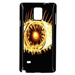 Flame Eye Burning Hot Eye Illustration Samsung Galaxy Note 4 Case (Black)