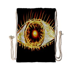 Flame Eye Burning Hot Eye Illustration Drawstring Bag (Small)