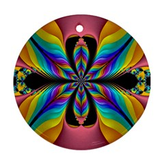 Fractal Butterfly Ornament (round)