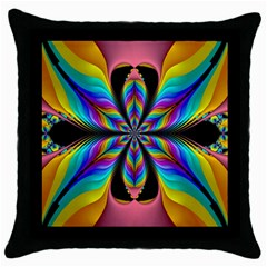Fractal Butterfly Throw Pillow Case (Black)