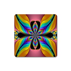 Fractal Butterfly Square Magnet