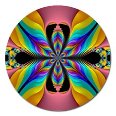 Fractal Butterfly Magnet 5  (round)