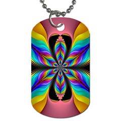 Fractal Butterfly Dog Tag (One Side)