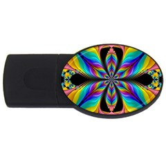 Fractal Butterfly Usb Flash Drive Oval (4 Gb)