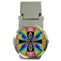 Fractal Butterfly Money Clip Watches