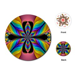 Fractal Butterfly Playing Cards (Round)