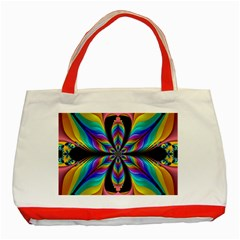 Fractal Butterfly Classic Tote Bag (red)