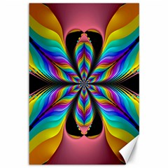 Fractal Butterfly Canvas 12  x 18
