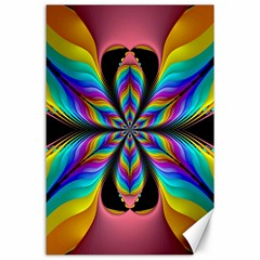 Fractal Butterfly Canvas 24  X 36