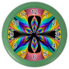 Fractal Butterfly Color Wall Clocks
