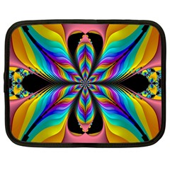 Fractal Butterfly Netbook Case (Large)