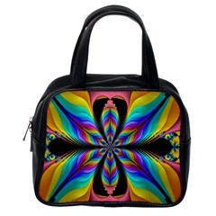 Fractal Butterfly Classic Handbags (One Side)