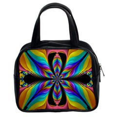 Fractal Butterfly Classic Handbags (2 Sides)