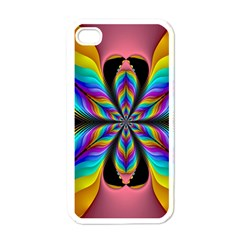 Fractal Butterfly Apple iPhone 4 Case (White)