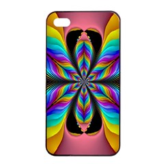 Fractal Butterfly Apple iPhone 4/4s Seamless Case (Black)