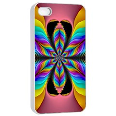 Fractal Butterfly Apple iPhone 4/4s Seamless Case (White)