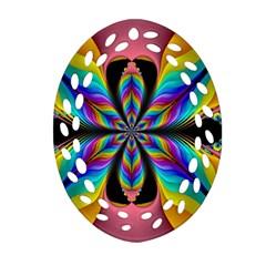 Fractal Butterfly Ornament (oval Filigree)