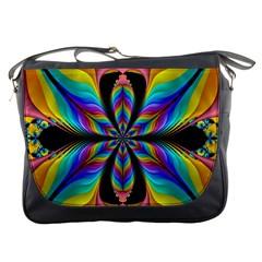 Fractal Butterfly Messenger Bags