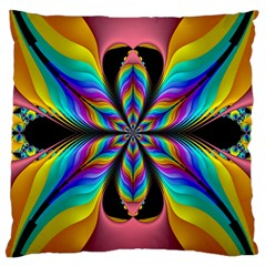 Fractal Butterfly Large Cushion Case (One Side)