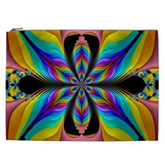 Fractal Butterfly Cosmetic Bag (xxl)