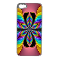 Fractal Butterfly Apple iPhone 5 Case (Silver)