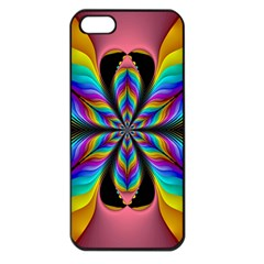 Fractal Butterfly Apple Iphone 5 Seamless Case (black)