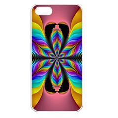 Fractal Butterfly Apple Iphone 5 Seamless Case (white)