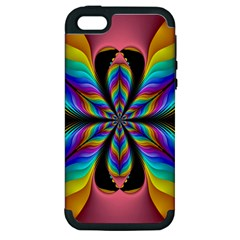 Fractal Butterfly Apple Iphone 5 Hardshell Case (pc+silicone)
