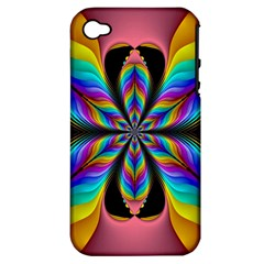 Fractal Butterfly Apple Iphone 4/4s Hardshell Case (pc+silicone)