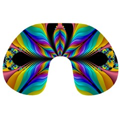 Fractal Butterfly Travel Neck Pillows