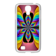 Fractal Butterfly Samsung GALAXY S4 I9500/ I9505 Case (White)