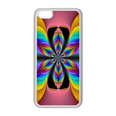 Fractal Butterfly Apple iPhone 5C Seamless Case (White)