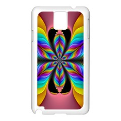 Fractal Butterfly Samsung Galaxy Note 3 N9005 Case (White)