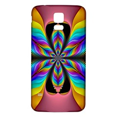Fractal Butterfly Samsung Galaxy S5 Back Case (White)