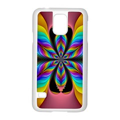 Fractal Butterfly Samsung Galaxy S5 Case (white)