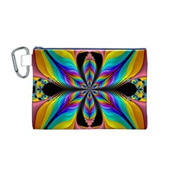 Fractal Butterfly Canvas Cosmetic Bag (M)