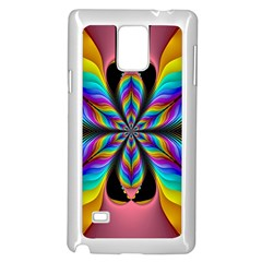 Fractal Butterfly Samsung Galaxy Note 4 Case (white)