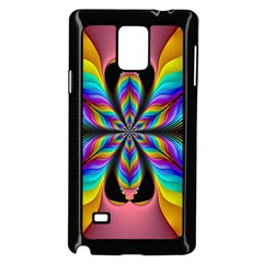 Fractal Butterfly Samsung Galaxy Note 4 Case (Black)