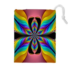Fractal Butterfly Drawstring Pouches (Extra Large)